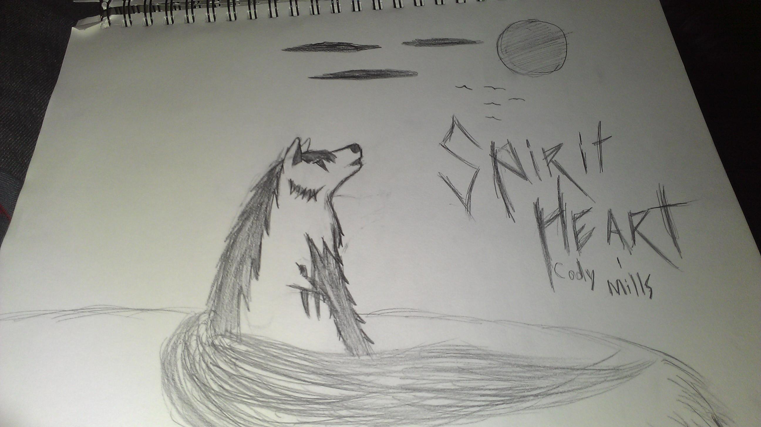 铅笔画狼教程全身