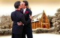 lgbt - winter wedding bells wallpaper
