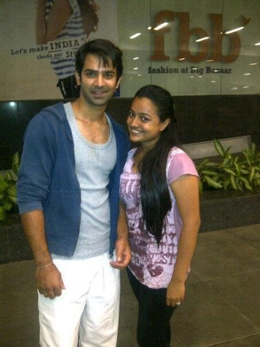 Barun Sobti wallpaper possibly with a sign, a street, and a leisure wear titled with fans