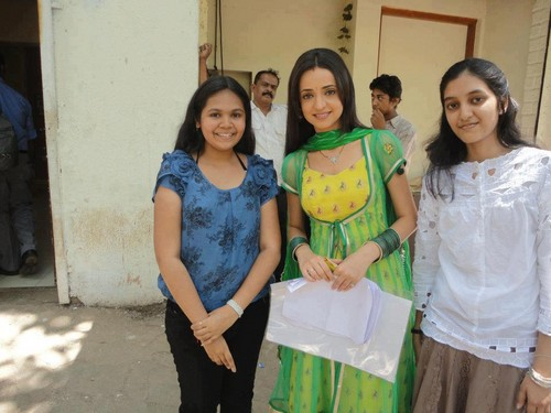 with fans
