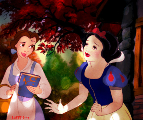 """Belle, could I have that book for a while?"""