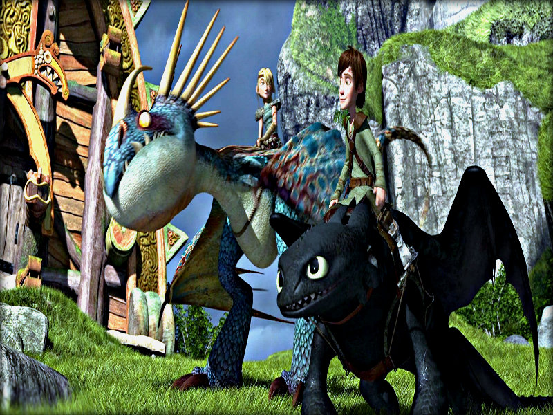 how to train your dragon animation