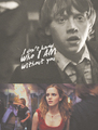 ➞ ron&hermione - romione fan art