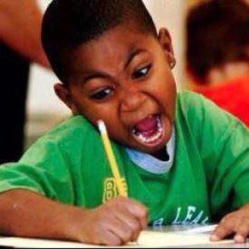 Black Kid Writing Meme