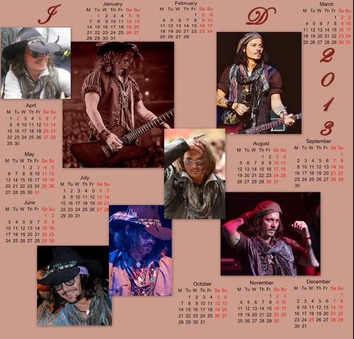 2013 Johnny Calendar