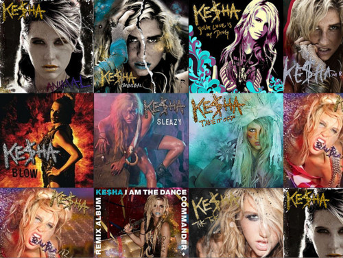 Ke$ha wallpaper containing anime titled Album Cover Collage