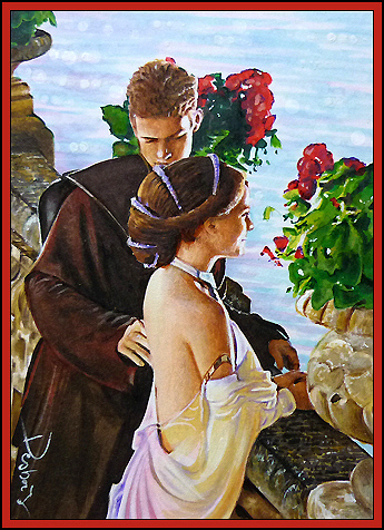 Anakin and Padme 壁纸 containing a bouquet titled Anakin and Padme
