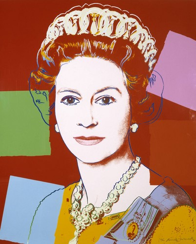Königin Elizabeth II. Hintergrund titled Andy Warhol, 'Queen Elizabeth II of the United Kingdom' 1985