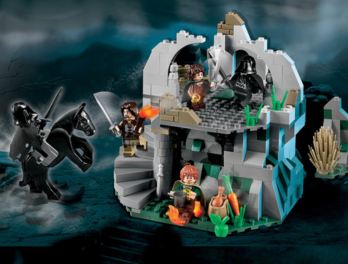 Lord Of The Rings Wallpaper Probably Containing A Space Shuttle Entitled Attack In Weathertop Lego Collection
