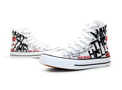 Avril Lavigne custom shoes