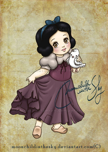 héroïnes des dessins animés de l'enfance fond d'écran probably with animé called Baby Snow White