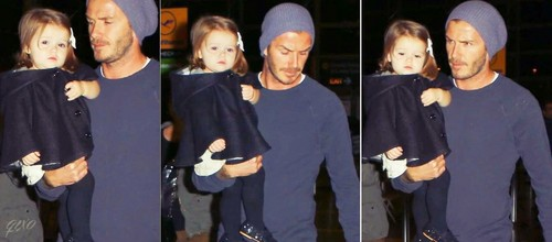 Beckham and his daughter Harper Seven