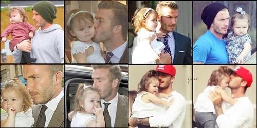 Beckham and his daughter Harper Seven