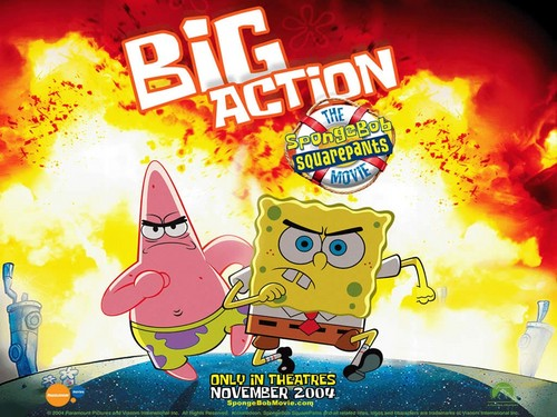 Spongebob Squarepants wallpaper containing anime entitled Big Action