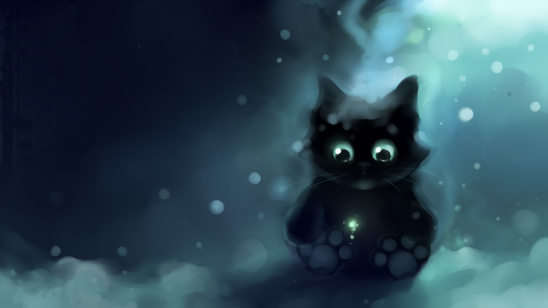 Apofiss animals images black kitty 2 hd wallpaper and - Anime cat wallpaper ...