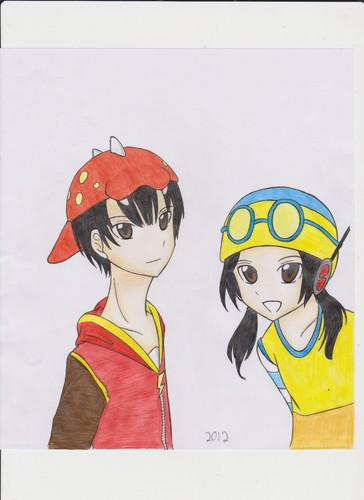 波波仔(boboiboy) 壁纸 probably containing 日本动漫 titled 波波仔(boboiboy) and Ying fanart