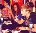 Bradley James and ángel Coulby 2010 (3)