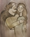 King Fergus and Queen Elinor - brave fan art