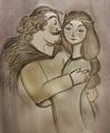 King Fergus and Queen Elinor - brave fan art
