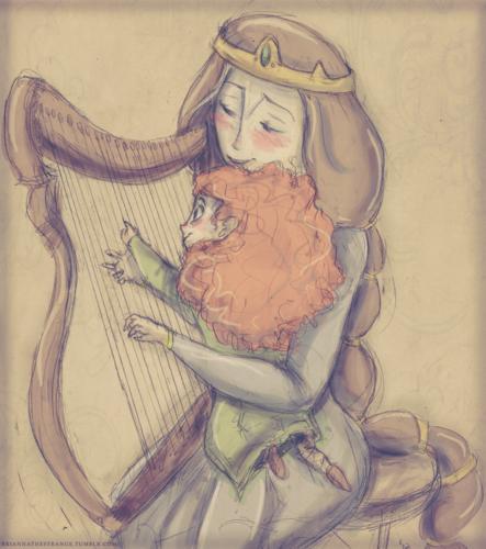 Elinor and little Merida