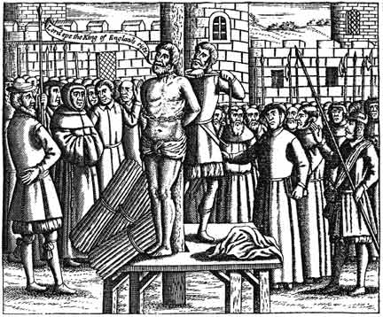 Burning of William Tyndale, Bible translator, in 1536 - tudor-history Photo