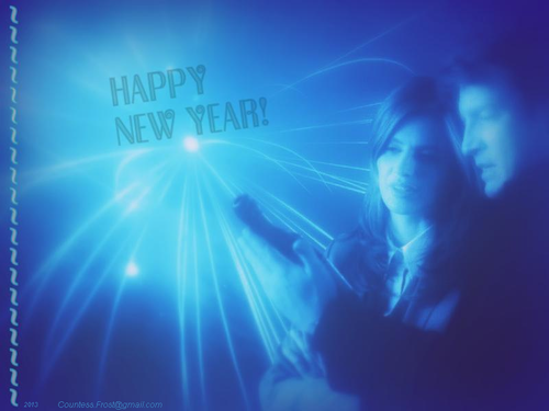C&B 2013 Happy New Year - castle Wallpaper