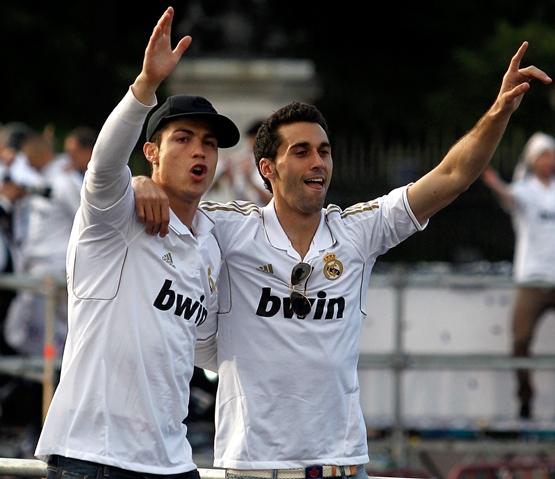 CR7 and Alvaro Arbeloa