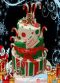 Candy Cane Cake - christmas fan art