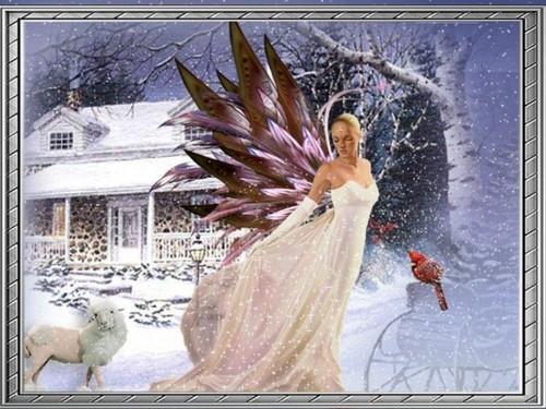 クリスマス Fairy 壁紙