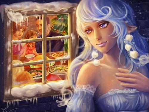 Weihnachten Fairy Hintergrund