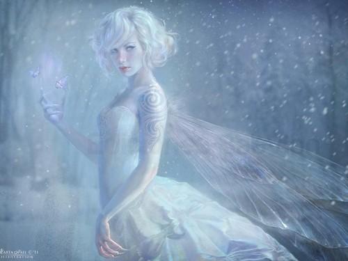 বড়দিন Fairy দেওয়ালপত্র