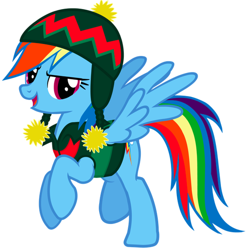 Christmas Rainbow Dash