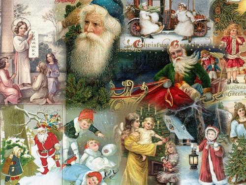 Рождество Vintage Обои
