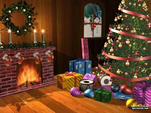 Christmas Vintage fond d'écran