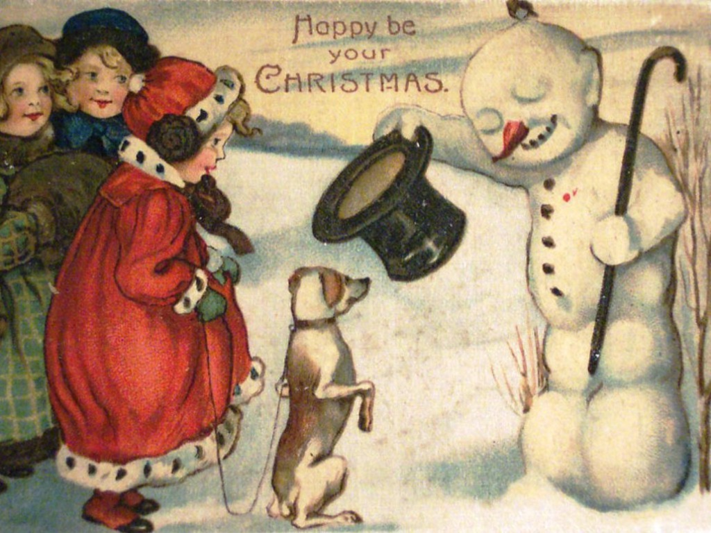 1946 Christmas Cards Vintage Book of Cut-Out Cards 25/26 of Them ~ by Eve