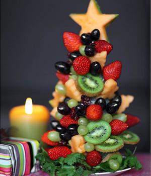 adible frutta Natale albero