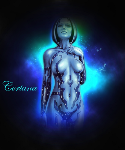Halo Wallpaper Possibly Containing A Fountain Entitled Cortana