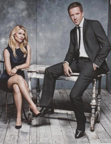 Damian Lewis & Claire Danes EW