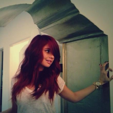 Debby Ryan DYES HAIR RED
