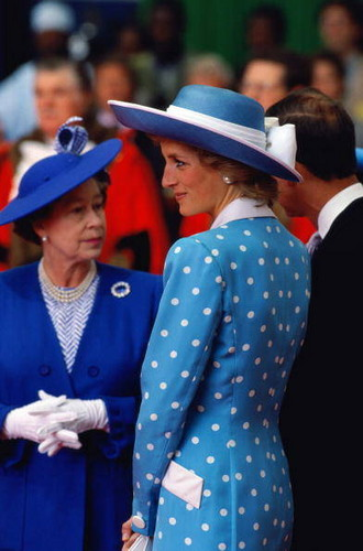 Elizabeth and Princess Diana