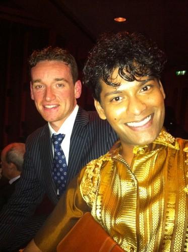 Emmanuel ray at VS Gala 2012, with property entrepreneur Patrick Moss.