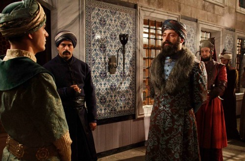 Muhtesem Yüzyil - Magnificent Century wallpaper probably with a polonaise, polineis and a kirtle, rok entitled Episode 48