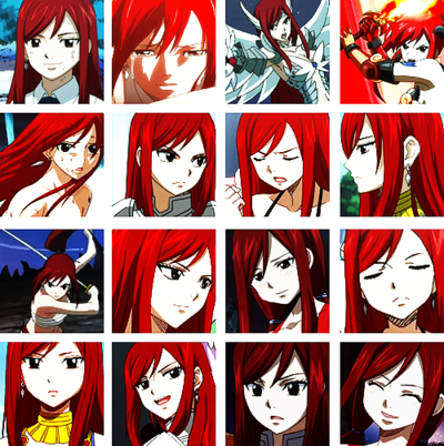 Erza Scarlet manga and animé