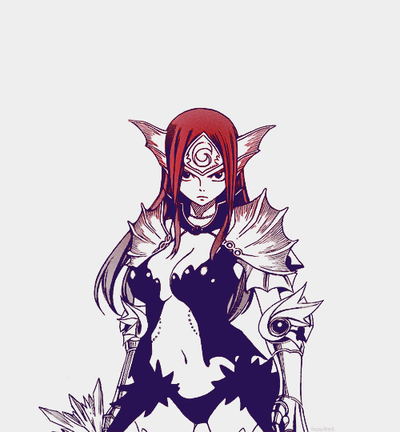 Erza Scarlet manga and anime
