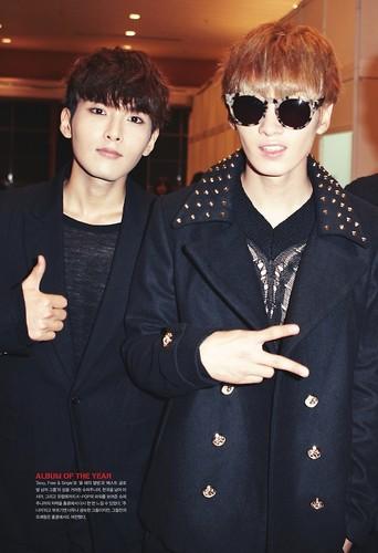 Lee Hyukjae / Lee Eunhyuk پیپر وال containing sunglasses entitled Eunhyuk~♥