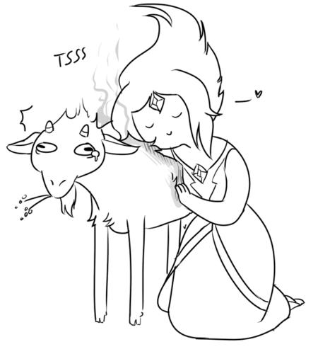 ফিন ও জ্যাকের সাথে অ্যাডভেঞ্চার টাইম দেওয়ালপত্র entitled FP and Her Goat