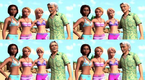 Falon , Hadley , Barbie and Grandpa