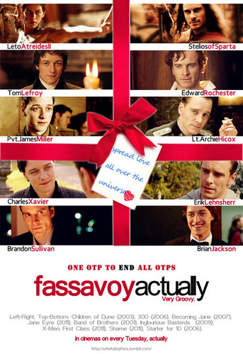 James McAvoy and Michael Fassbender wallpaper titled Fassavoy, Actually