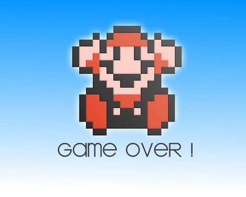 Super Mario Bros. wallpaper titled Game Over