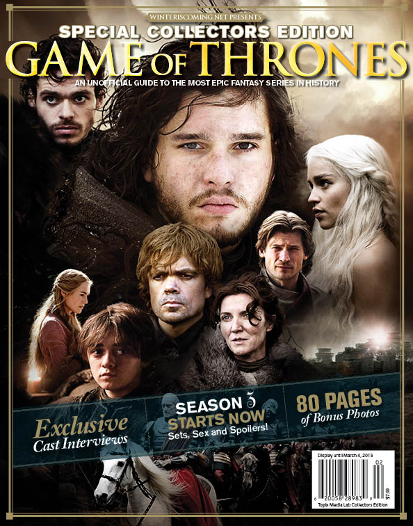 Game of thrones magazine cover
